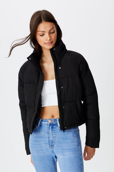 Emma Puffa Jacket, BLACK