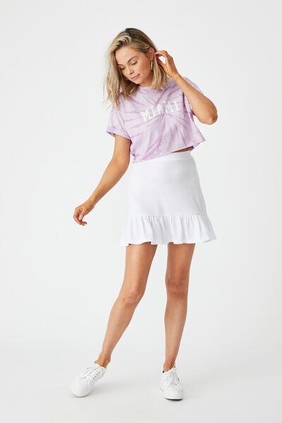Hope Tiered Skirt, WHITE