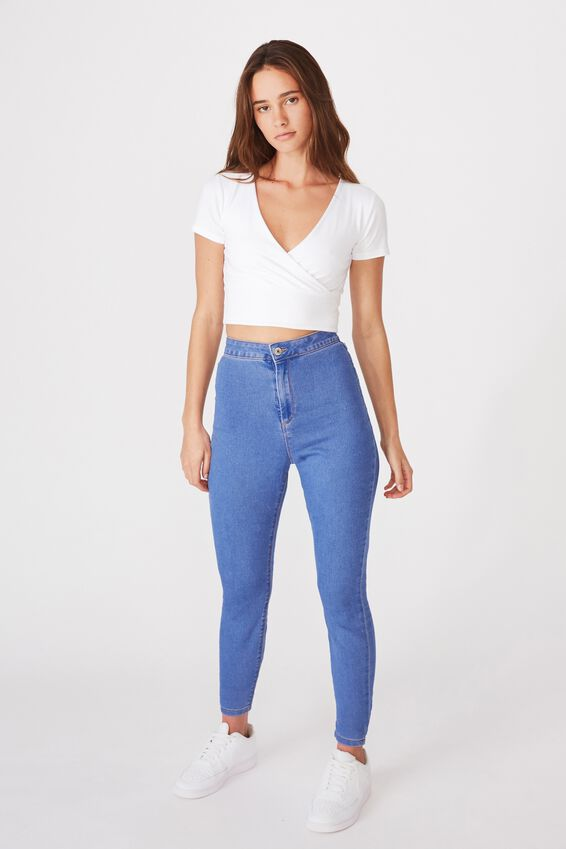 Super Skinny Sky High Jean, MARINE BLUE