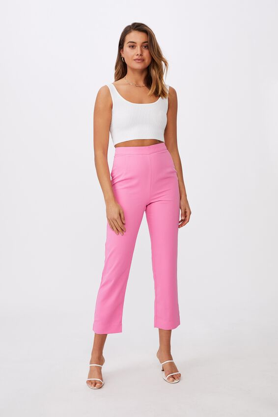 Stevie Tailored Pant, PUNCH PINK