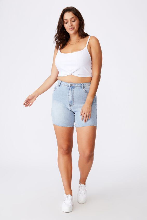 Sutton Knot Front Cami, WHITE