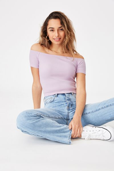 Maryanne Off The Shoulder Top, ORCHID ROSE