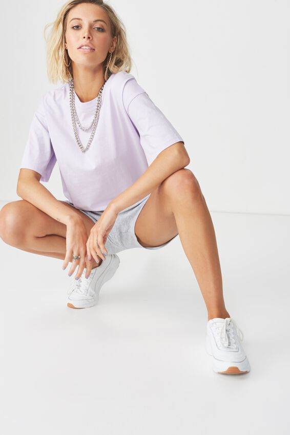 Chopped Boyfriend Tee, LIGHT PURPLE
