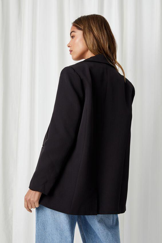 Charlotte Oversized Blazer, BLACK