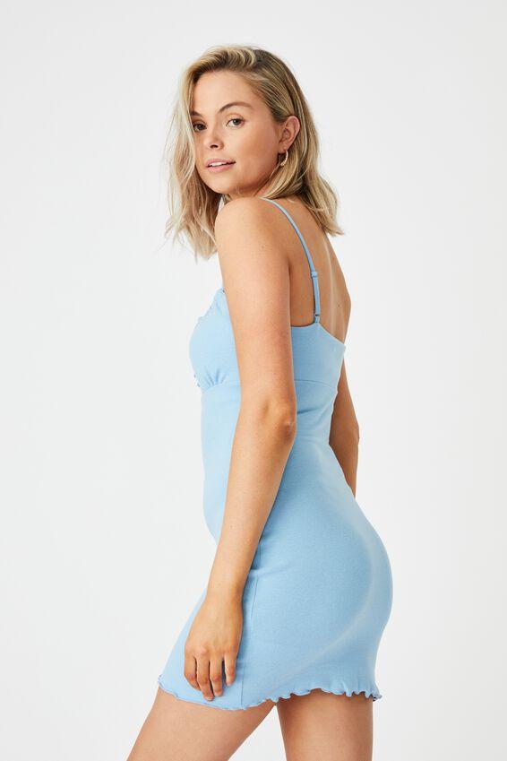 Francesca Knit Mini Dress, CAPRI BLUE