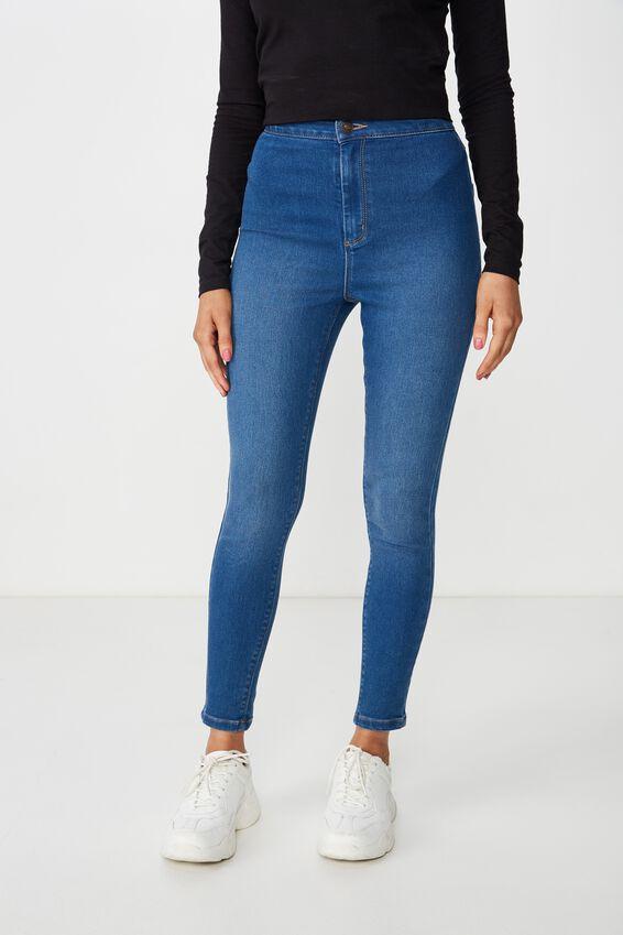 Short Super Skinny Sky High Jean, REBEL BLUE