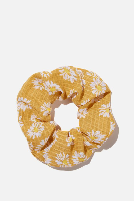 Sunflower Ditsy Scrunchie, YELLOW