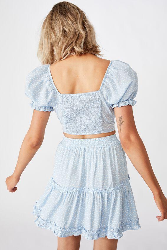 Maisie Tiered Skirt, PEBBLE SPOT BLUE