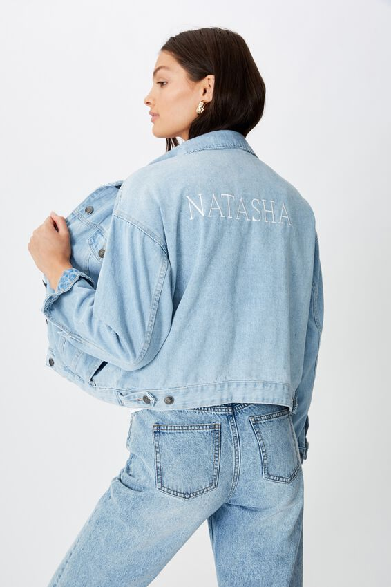 Customised 80S Denim Jacket, CALIFORNIA BLUE