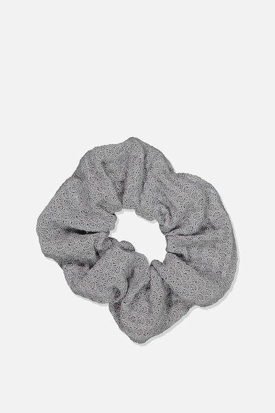 Texture Scrunchie, GREY