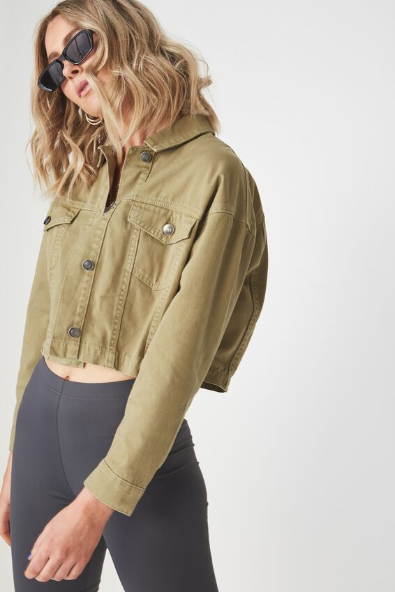 Jaxon Military Jacket, JUNGLE GREEN