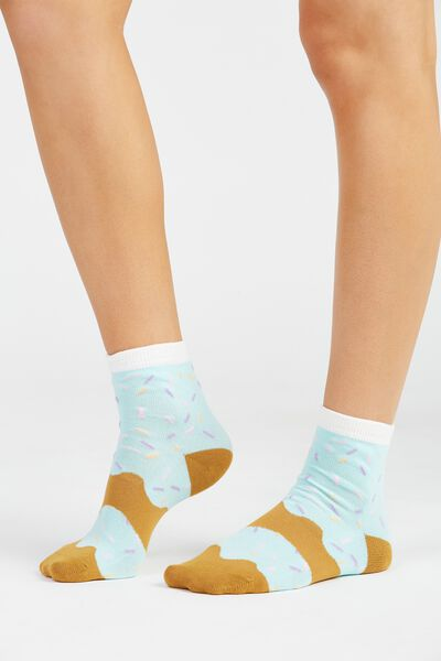Novelty Doughnut Socks, MINT