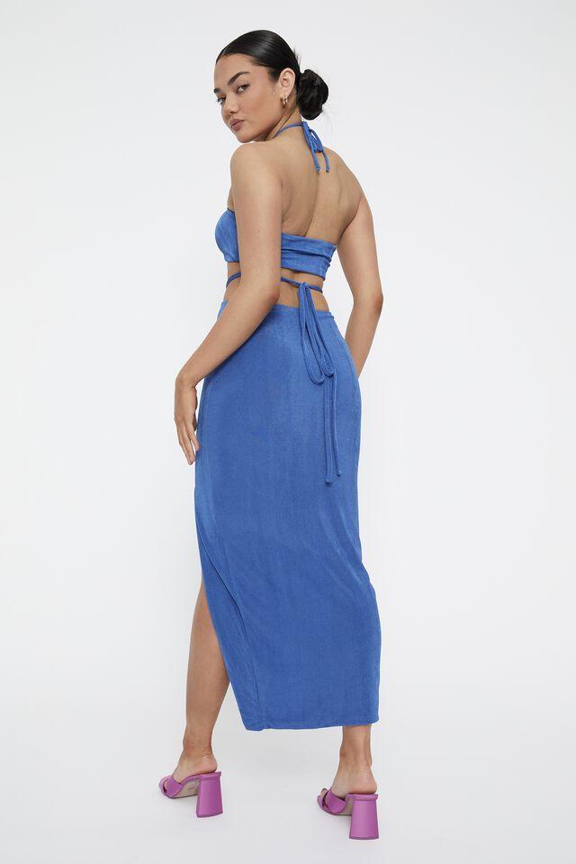 Zora Mermaid Maxi Skirt, SAPPHIRE BLUE