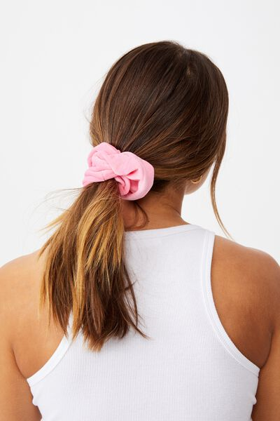 Brushed Scrunchie, PUNCH PINK