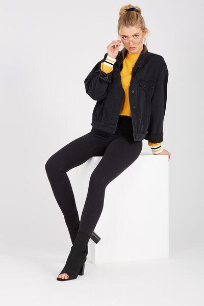 The Skinny Denim Jean, BLACK