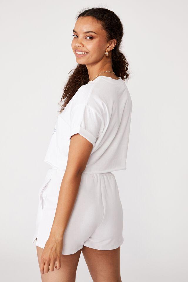Tamara Printed Crop T Shirt, WHITE/PROTECT THE PLANET