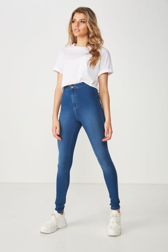 Long Super Skinny Sky High Jean, REBEL BLUE