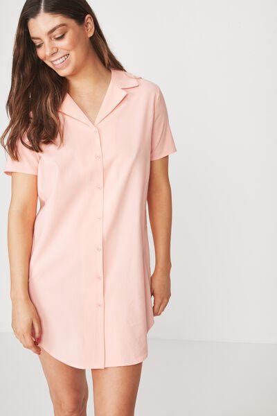 Sleep Shirt Nightie, FLURO CORAL