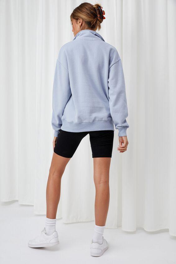 Hayden Quarter Zip Jumper, LEISURE BLUE/SACRAMENTO