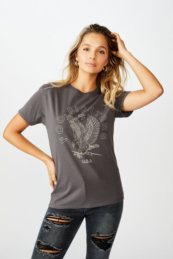 Foo Fighters Tee, GRANITE GREY LCN LIV FOO FIGHTERS EAGLE