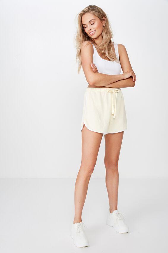 Emma Sweat Short, LIMONCELLO/WHITE