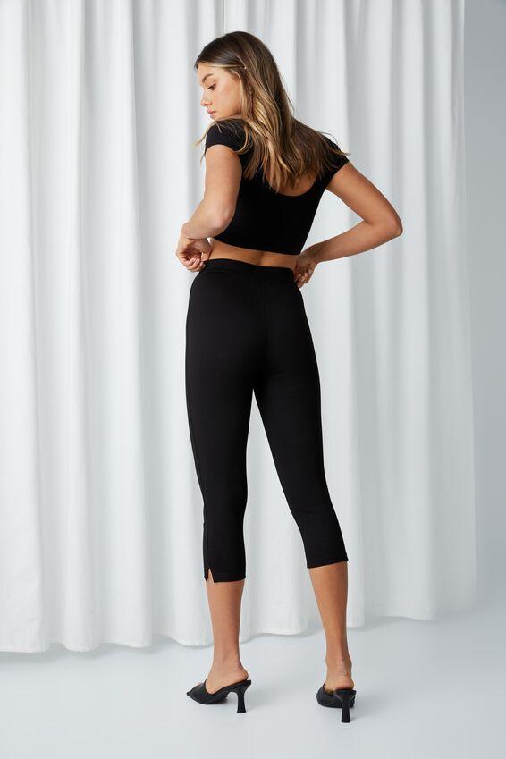 Aubrey Capri Stretch Pant, BLACK