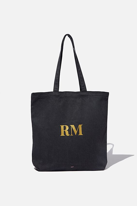 Personalised Canvas Tote Bag, WASHED BLACK