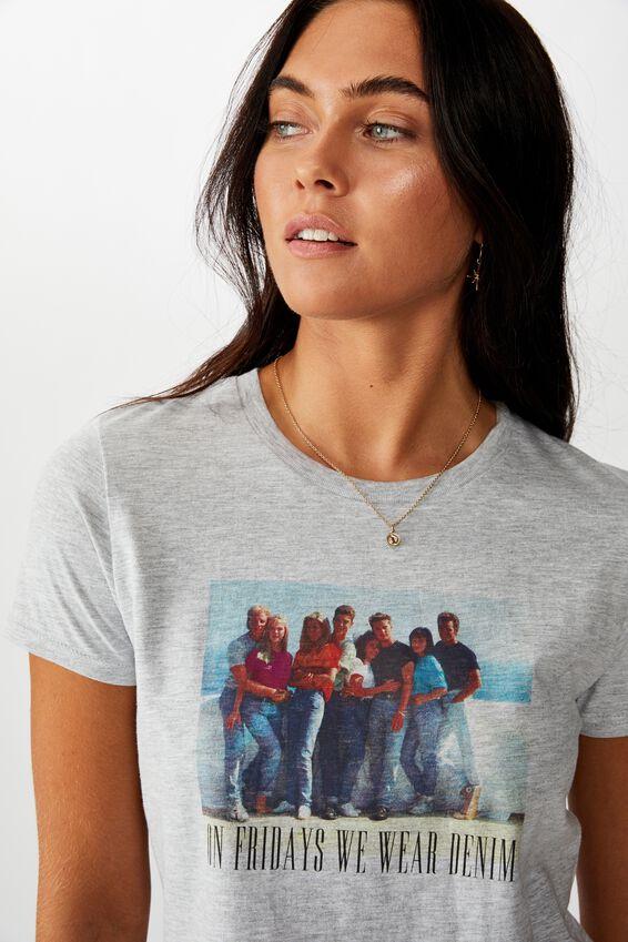 90210 Tee, GREY MARLE/LCN FRE 90210