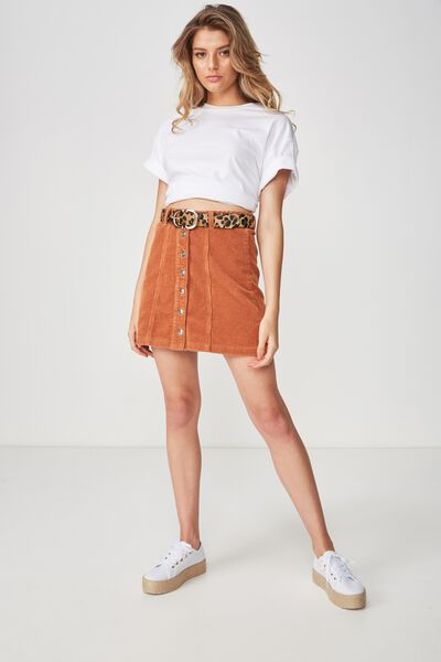 The Olsen Cord Skirt, TOFFEE