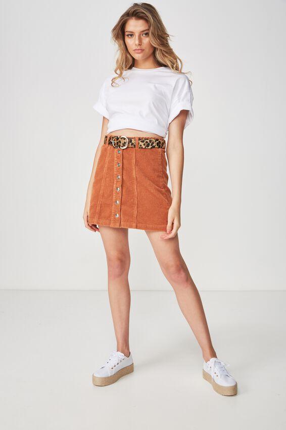 The Olsen Cord Skirt, TOFFEE