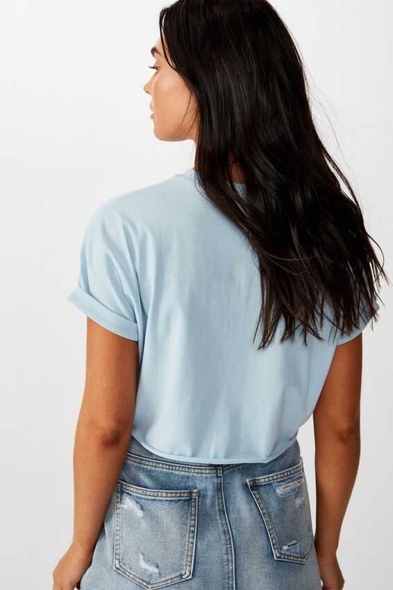 Butterflies Crop Tee, CLOUD BLUE/BUTTERFLY SPECIES