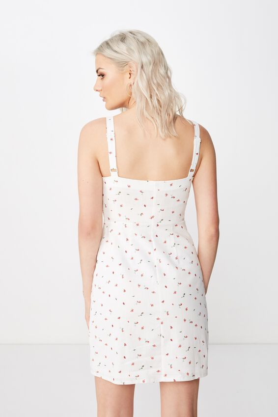 Bianca Wide Strap Cami Dress, KIKI PINK DITSY