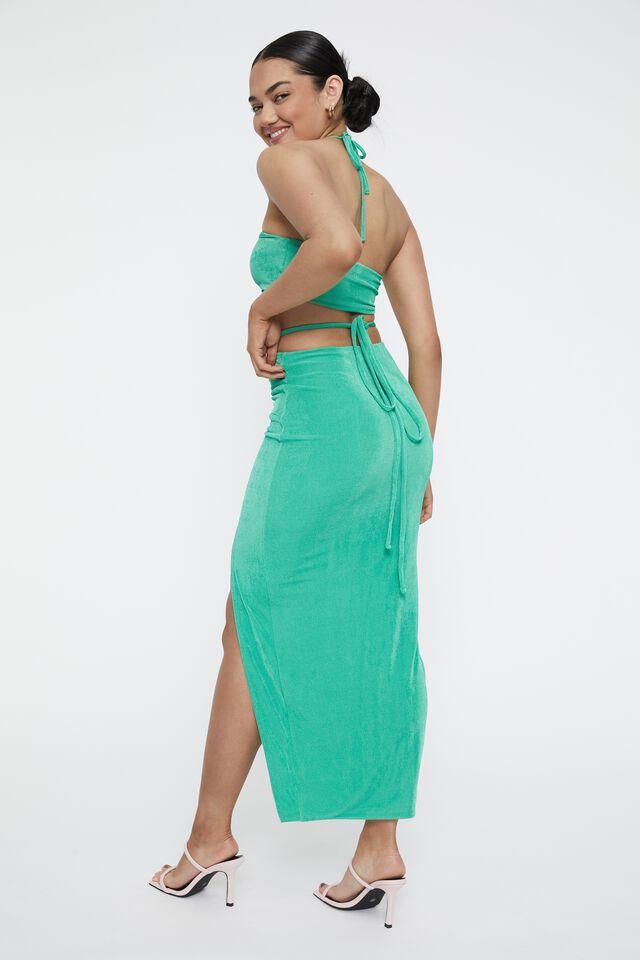 Zora Mermaid Maxi Skirt, JEWEL GREEN