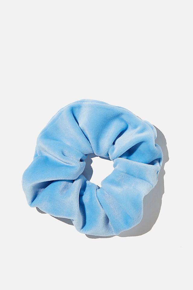 Brushed Scrunchie, CAPRI BLUE