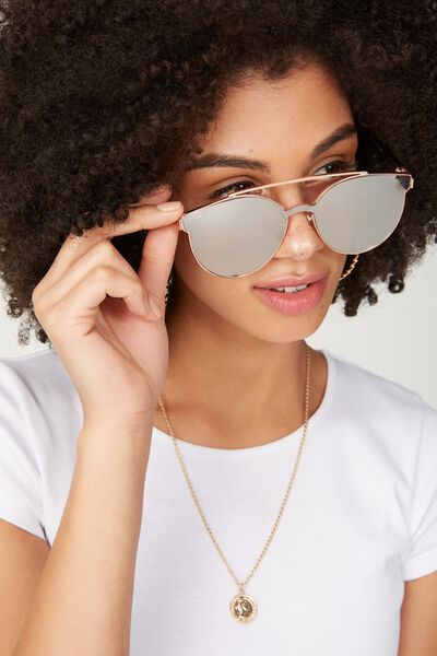 Willow Topbar Sheild Sunglasses, BLUSH/ROSE GOLD