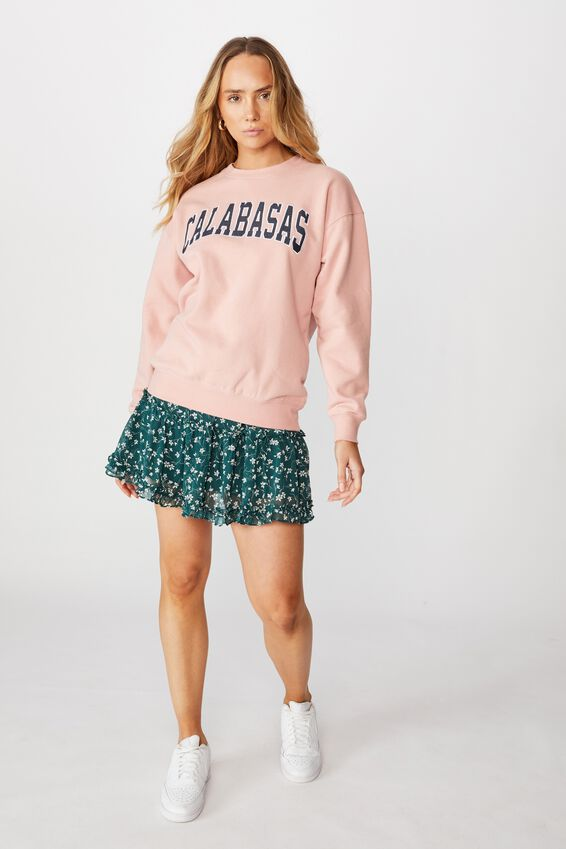 Tanisha Graphic Crew Sweat, ROSE QUARTZ PINK/CALABASAS