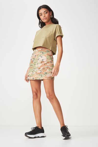 Kerry Pocket Crop Tee, JUNGLE KHAKI