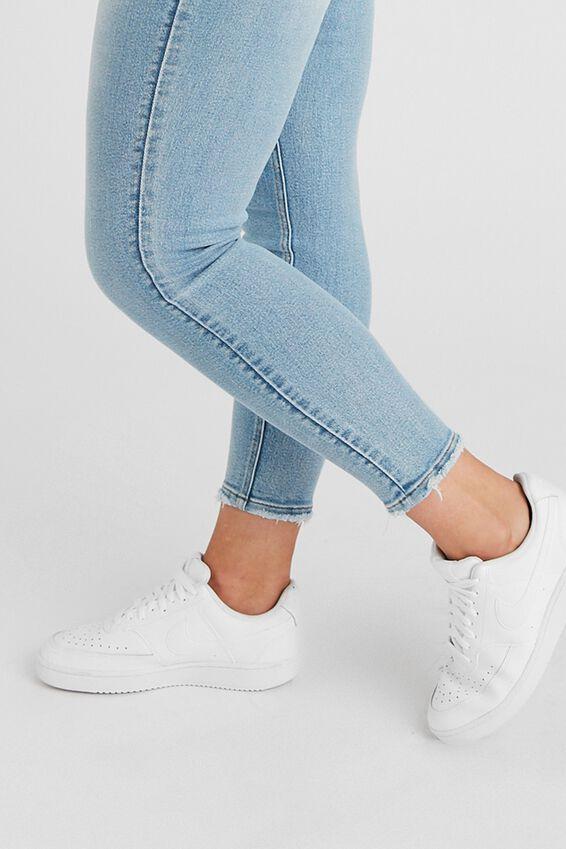 Long Leg Skinny Premium High Rise Jean, PACIFIC BLUE