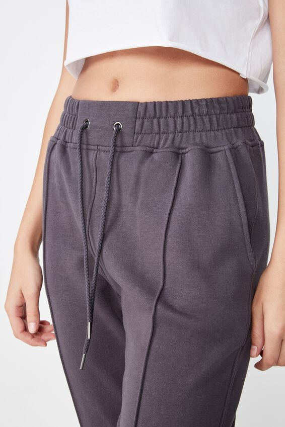 Robyn Pin Tuck Sweat Pant, GRANITE GREY