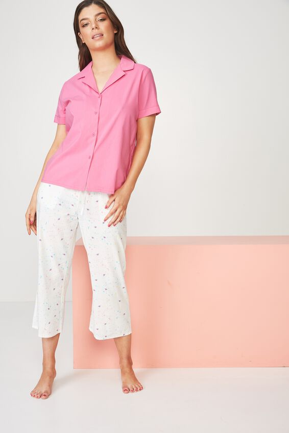Cotton 3/4 Sleep Pant, COLOURFUL GALAXY