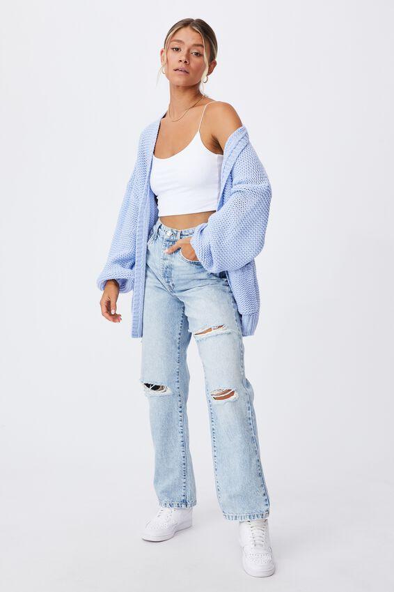Georgie Oversized Cardigan, AURA BLUE
