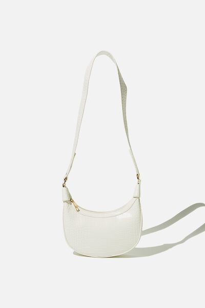 Candace Shoulder Bag, WHITE