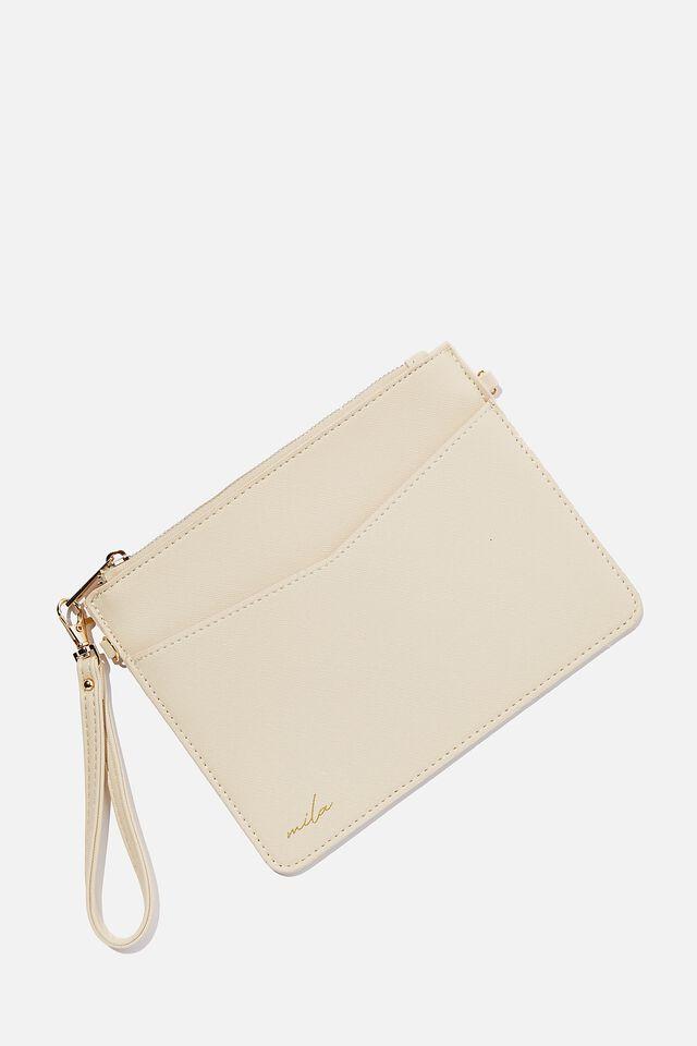 Personalised Nia Envelope Clutch, SANDSTONE TEXTURE
