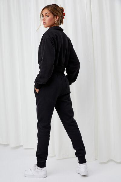 Erica Slim Fit Track Pant, BLACK