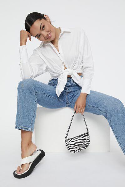 Mia Oversized Shirt, WHITE