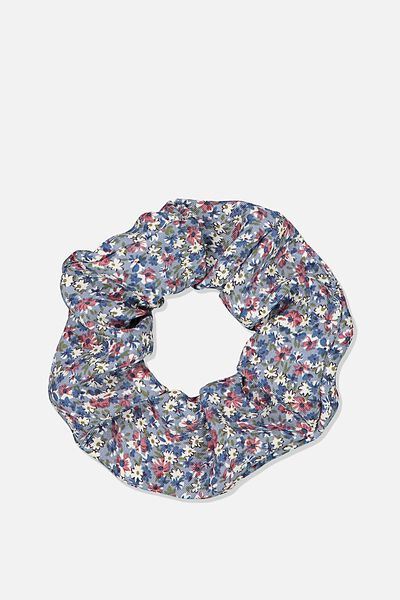 Ditsy Floral Cluster Scrunchie, DITSY CLUSTER BLUE