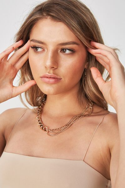 Selena Clean Chain Necklace, GOLD