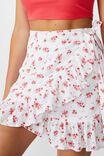 Georgie Frill Wrap Mini Skirt, VINTAGE FLOWER PINK
