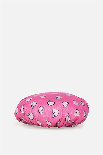 Novelty Shower Cap, PINK/PURRFECT