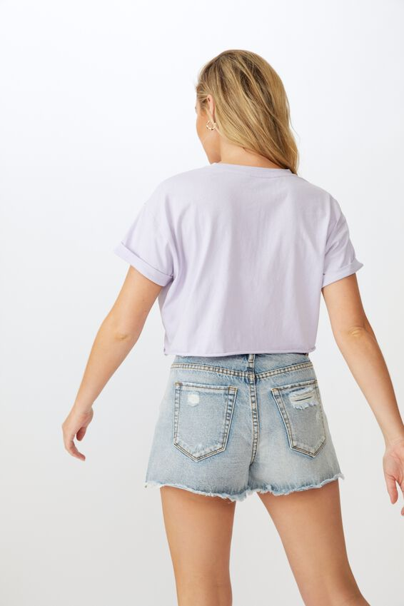 Tamara Graphic Crop Tee, AMETHYST LILAC OBSESSED